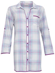 Cyberjammies Elsie Check Night Shirt Blue Purple