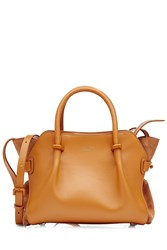 Nina Ricci Leather Tote Yellow