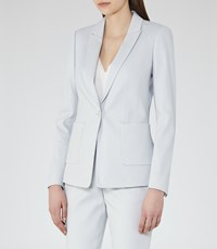 Reiss Harloe Jacket Womens Textured Blazer In Blue
