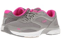 Ryka Propel 3D Pro Grey Frost Grey Athena Pink Women's Walking Shoes Gray