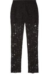 Mcq By Alexander Mcqueen Lace Straight Leg Pants Black