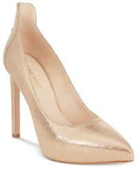 Nine West Lovelost Pointed Toe Platform Pumps Women's Shoes Light Gold Metallic