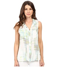 Calvin Klein Jeans Sleeveless Utility Shirt Radical Women's Sleeveless Blue