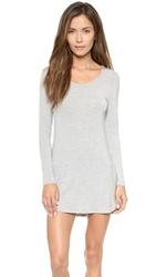 Splendid Long Sleeve Chemise Charcoal Heather Grey