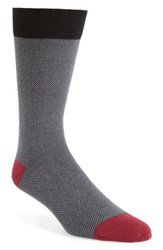 Ted Baker London Joaquim Solid Socks Black Charcoal