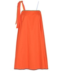 Anna October Cotton Dress Orange