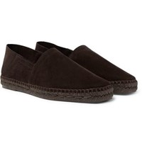 Tom Ford Barnes Suede Espadrilles Brown