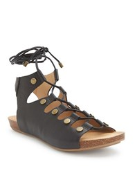 Me Too Nori Leather Sandals Black