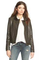 J Brand 'Marshall' Leather Jacket Camo