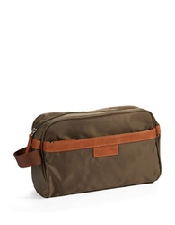 Perry Ellis Travel Kit With Faux Leather Trim Olive