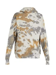 Rhude Desert Camouflage Tie Dyed Hooded Sweatshirt Grey
