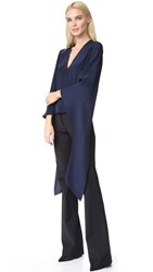 Derek Lam V Neck Blouse Navy