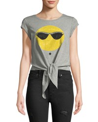 Romeo And Juliet Couture Tie Up Sunglasses Tee Gray