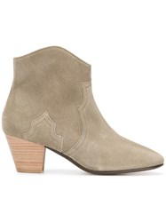 Isabel Marant Dicker Boots Calf Leather Leather Suede Nude Neutrals