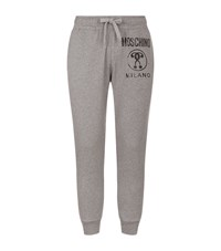 Moschino Logo Print Joggers Male Grey