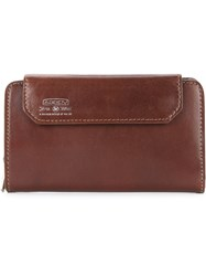 As2ov Front Flap Wallet Bullhide Leather Brown