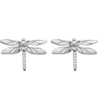 Theo Fennell Sterling Silver Dragonfly Stud Earrings