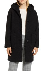 Halogen Hooded Coat Black