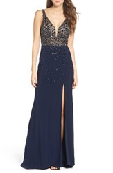 Sean Collection Women's Embellished Sleeveless Gown
