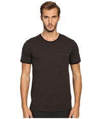 The Kooples River Skull Pocket Crew Neck T Shirt Khaki Men's T Shirt