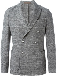 Eleventy Prince Of Wales Check Blazer Grey