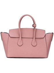 Bally Double Handles Tote Pink Purple