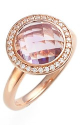 Women's Lafonn 'Aria' Bezel Set Ring Rose Gold Amethyst