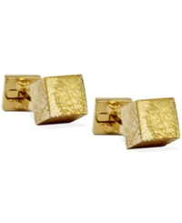 Ike Behar Block Cufflinks Gold