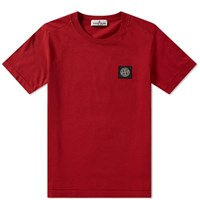 Stone Island Junior Patch Tee Red