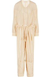 Stella Mccartney Carla Oversized Silk Jumpsuit White