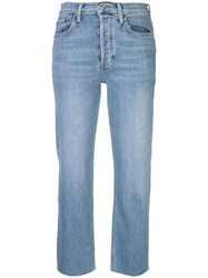 Re Done High Rise Pipe Jeans Blue