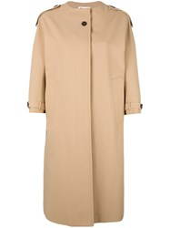 Jil Sander Three Quarters Sleeve Coat Nude Neutrals