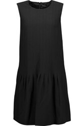 Belstaff Lindley Pintucked Crepe Dress Black