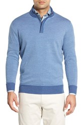 Peter Millar Men's Quarter Zip Merino Wool Sweater Hawaiian B
