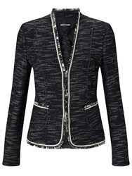 Gerry Weber Edge To Edge Textured Jacket Indigo