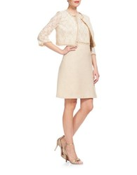 Kay Unger Lace Jacket Ivory Multi