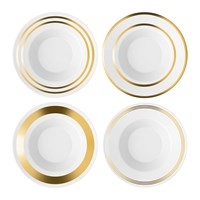 Lsa International Deco Assorted Gold Soup Pasta Bowl Set Of 4