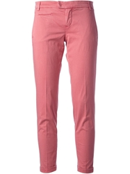 Jacob Cohen Straight Leg Trousers Pink And Purple