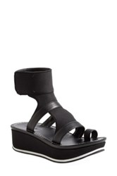 Max Studio 'Quince' Wedge Platform Ankle Strap Sandal Women Black
