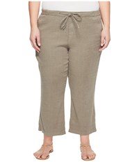 Nydj Plue Size Drawstring Ankle Pants In Sergeant Olive Sergeant Olive Women's Jeans