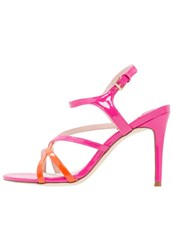 Faith Lotus Sandals Orange Pink