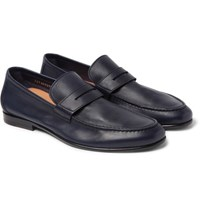 Harry's Of London Harrys James Leather Penny Loafers Navy