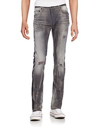 True Religion Renegade Distressed Skinny Jeans Grey