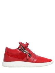 Giuseppe Zanotti 20Mm Leather And Suede Sneakers