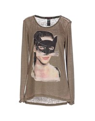 Custo Barcelona Topwear T Shirts Women Military Green