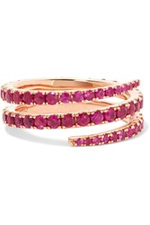 Anita Ko Coil 18 Karat Rose Gold Ruby Ring 6