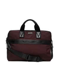 Michael Kors Parker Large Nylon Briefcase Oxblood