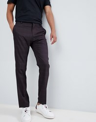 Selected Homme Slim Suit Trouser In Check Burg Check Red