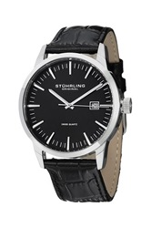 Stuhrling Men's Ascot 42 Swiss Classic Quartz Watch Set Black