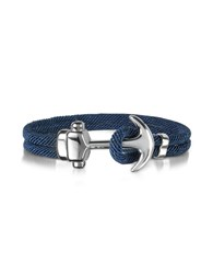 Forzieri Men's Bracelets Nautical Rope Double Bracelet W Anchor